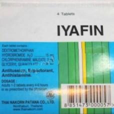 Эффективное лечение кашля и насморка при простуде, Iyafin таблетки, 4 шт.