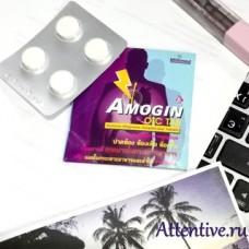 Для снятия боли, изжоги, отрыжки в желудке, Amogin, 4 таблетки