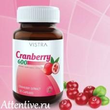 Капсулы органической клюквы Herbal One Cranberry Vistra, 60 капсул.
