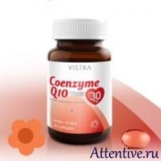 Коэнзим Q10, ubiquinone 30 капсул.  Vistra
