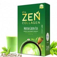 Жидкий коллаген с витаминами, японский  Органик Матча, Zen, 5 шт.