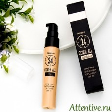 Профессиональная тональная основа 24 Cover All Foundation, 25 мл.