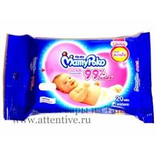 Детские влажные салфетки, успокаивающие, MamyPoko, 20 шт.