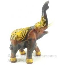 Аксессуар Тайский слон, дерево с золотом.