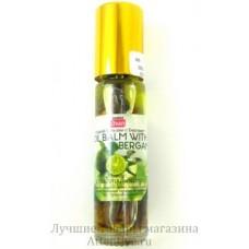 Жидкий тайский  бальзам с  бергамотом и травами, Banna oil balm Bergamot, 10 гр.