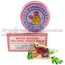 """Тайский бальзам """"White monkey holding Peach"""", 8 гр."""