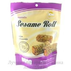 Вкусные кунжутные роллы с орехом Sesame roll 180 гр.