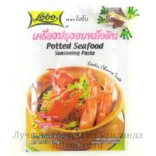 Паста тайская приправа, Potted Seafood, Lobo, 60 гр.