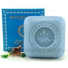 Цветущая кожа натуральное мыло Madame Heng Flourish blue, 150 гр.