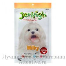 Лакомства палочки куриные для собак, Jerhigh Real Chiken Meat Milk Stick,70 гр.