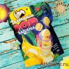 Чипсы фруктовые, воздушные бананы, 100% органик, Tasmania POP 38 гр.