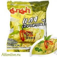 Зеленый карри и курица, тайская лапша Mama Chicken Green Curry, 55 гр.