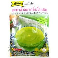 Натуральный крем-пудинг быстрого приготовления Lobo Thai Custard Pandan, 120 гр.