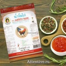 Знаменитый тайский остро-сладкий соус Mae Pranom Dipping for Chicken, 1 литр.