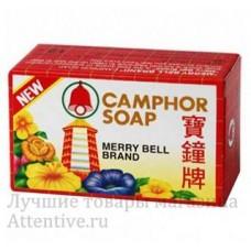 Тайское мыло на основе кокосового масла и камфоры Мерри Белл Camphor soap, 50 гр.