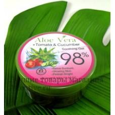Лечебный био гель алое вера + томат + огурец 98% 300 мл.