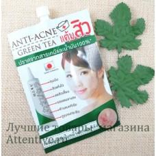 Быстрое лечение прыщей Васаби и зеленый чай Fuji Anti-Acne, 10 г.
