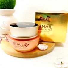 Питательный, регенерирующий крем улитка и зеленый чай Moods Snail Green Tea, 50 мл.