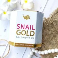Уникальный омолаживающий крем Snail Gold Extra Collagen & Q10, 50 гр.