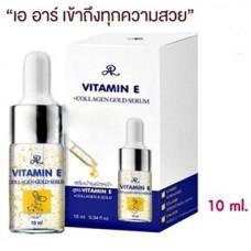Сыворотка для питания, омоложения кожи лица Vitamin E+Collagen Gold Serum, 10 мл.