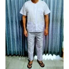 Одежда (пижама) для массажа, рубашка и штаны.
