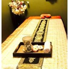 Декоративная шелковая полоса с кистями, тайский текстиль.