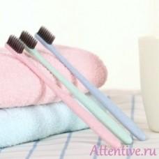 Зубная щетка, антибактериальная угольная в чехле, 1 шт.